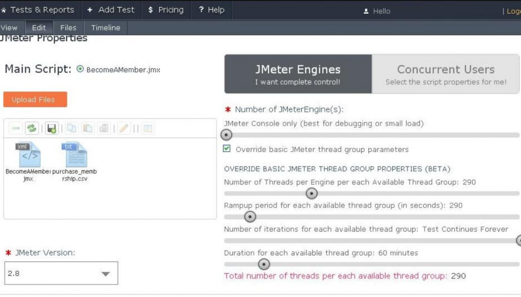 JMeter Engines